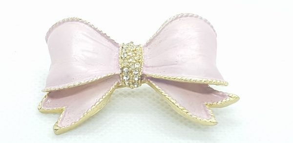 Pink Bow Brooch